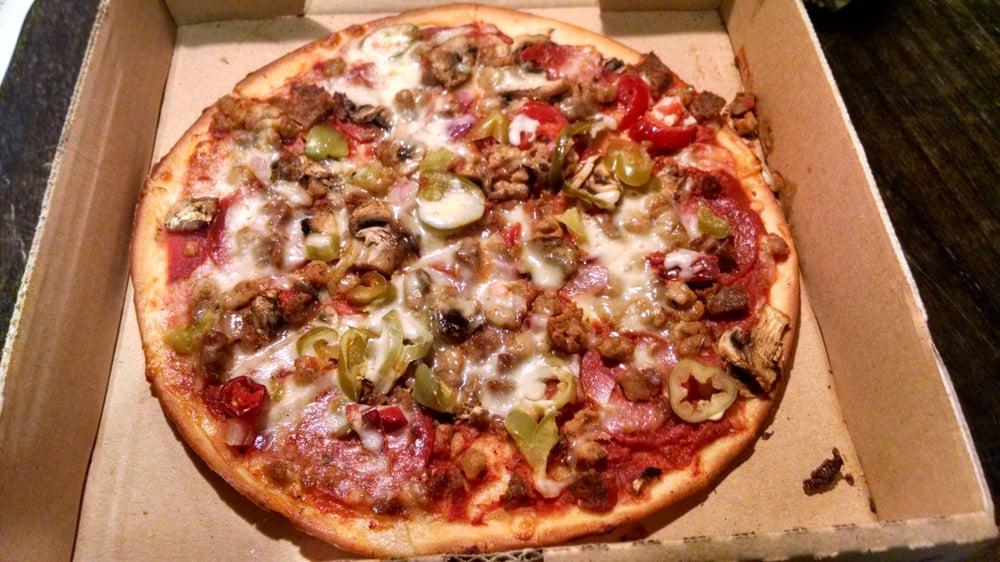 Gluten free supreme pizza. Roccos is spicier than most ...