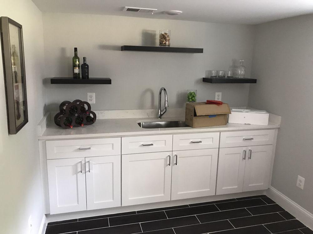 Photo Of Granite Quartz Zone   Chantilly, VA, United States. White Shaker  Cabinets