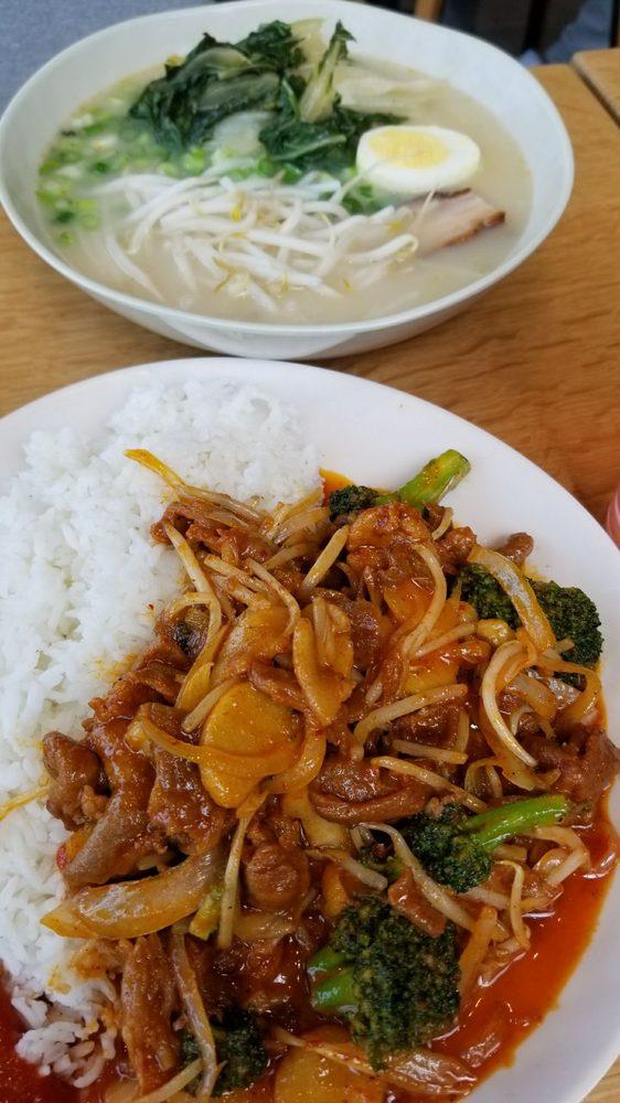 Spicy pork stir fry and tonkazu ramen  - Yelp