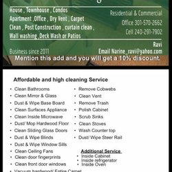 Ravi House Cleaning Service - Home Cleaning - 17801 Buehler Rd ...