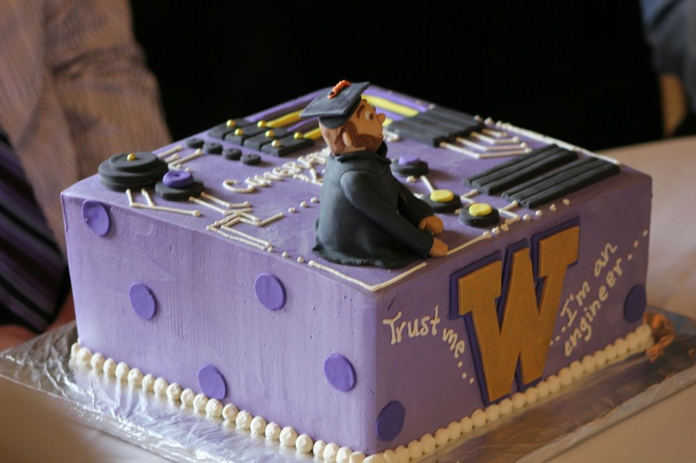 The cake I ordered for my Mechanical Engineer graduate! - Yelp