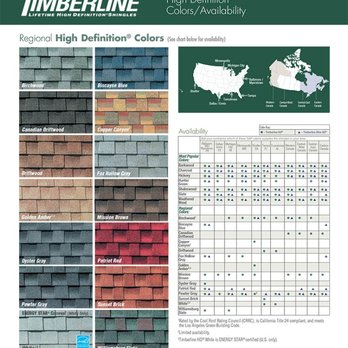 Regional roofing shingle colors by GAF - Yelp