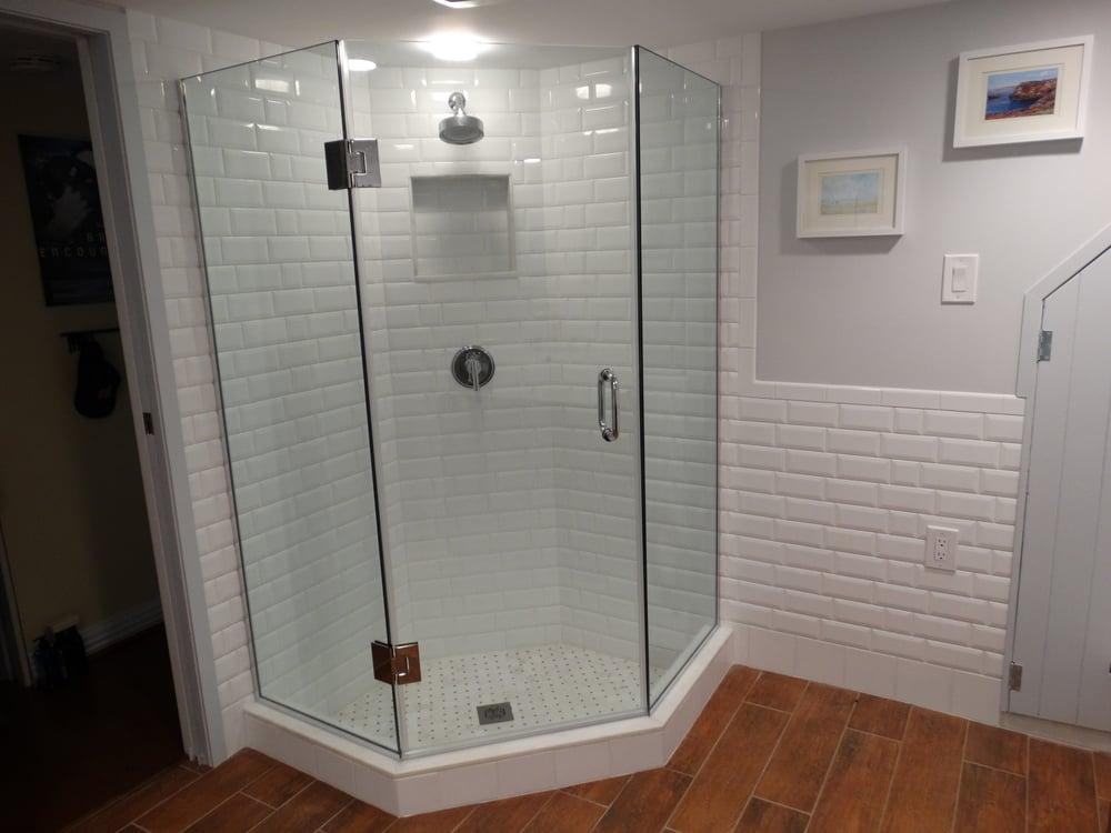 basement bathroom in georgetown heated floor sunken shower floor rh yelp com Best Heating System for Basement Basement Floor Construction