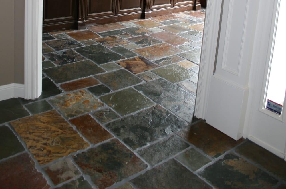 Slate Chiseled Edge Versailles Pattern Floor Yelp
