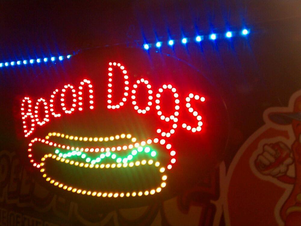 Alex Bacon Dog Stand: 15803 Amar Rd, La Puente, CA