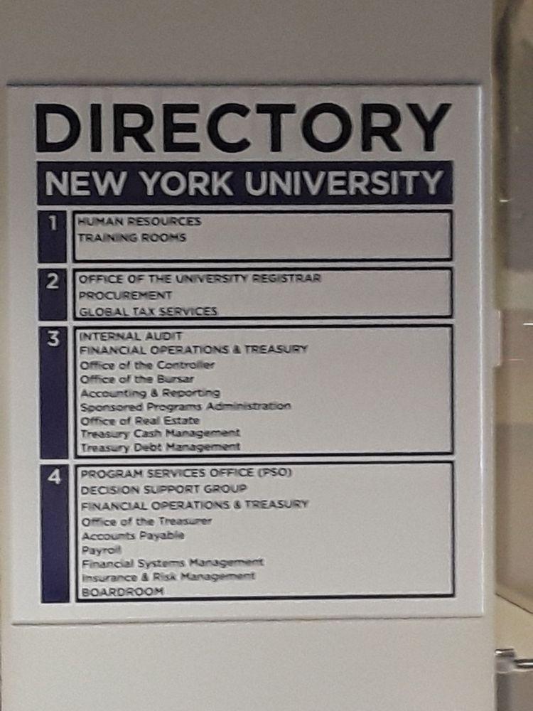 New York University School of Professional Studies - 7 E