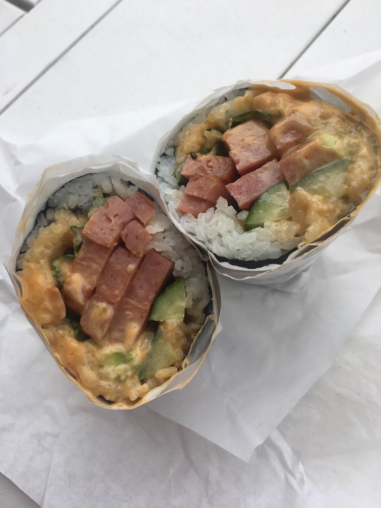 Food from Sushi Burrito