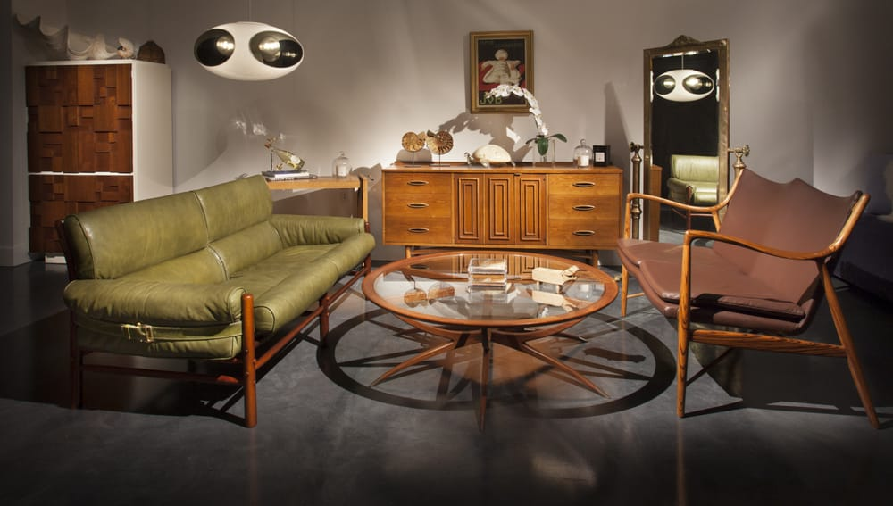 Danish Credenza Los Angeles : Vintage danish mid century modern safari sofas and spider table