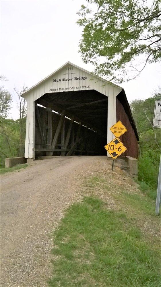 McAllister Covered Bridge: County Road 400 S, Rockville, IN