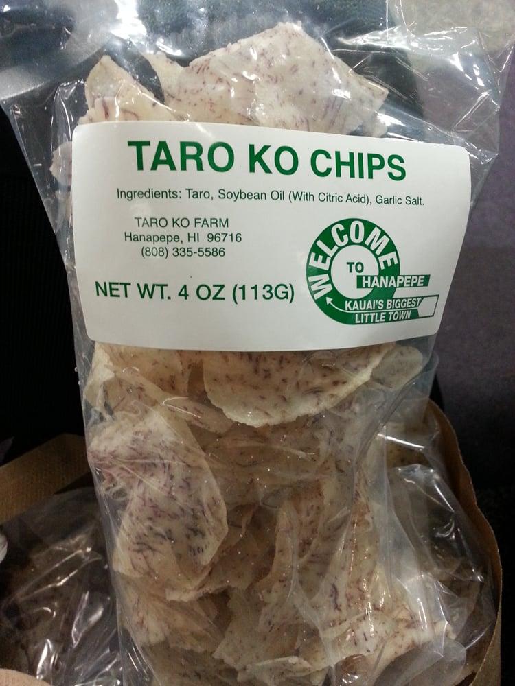 Photo of Taro Ko Factory - Hanapepe, HI, United States. Best taro chips I've ever had!!