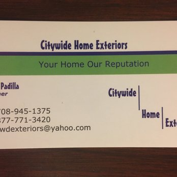 Citywide home exteriors roofing 7836 natoma ave burbank il photo of citywide home exteriors burbank il united states business card reheart Image collections