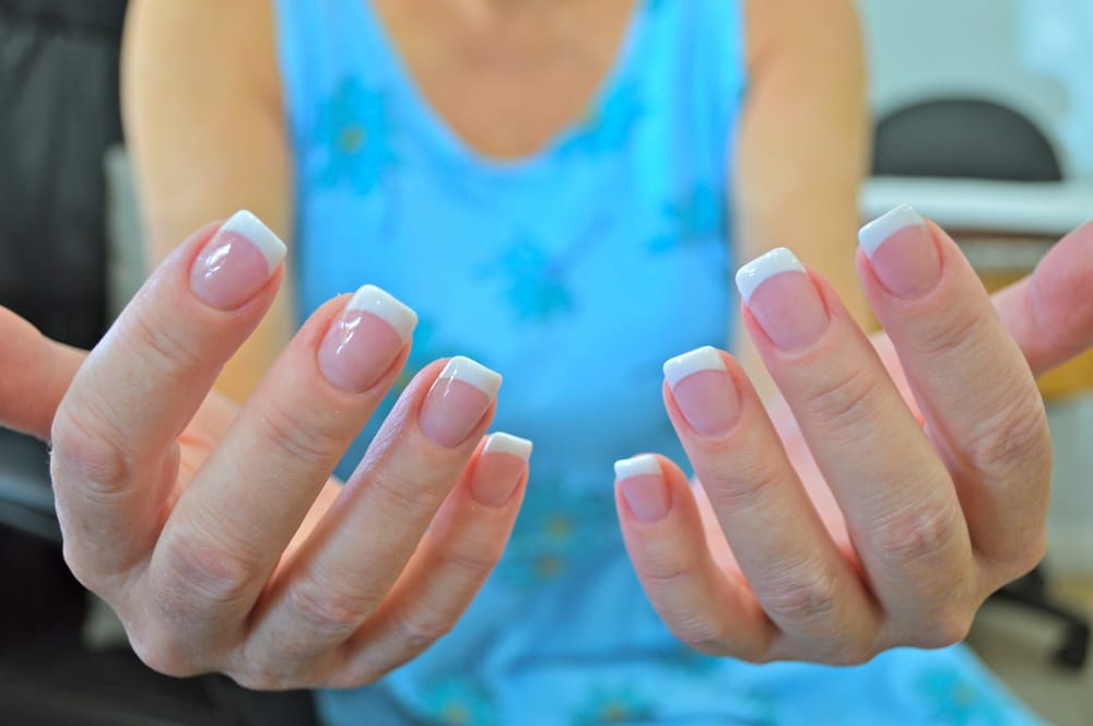 Acrylic Gel Manicure with French Tips by Kim - Yelp