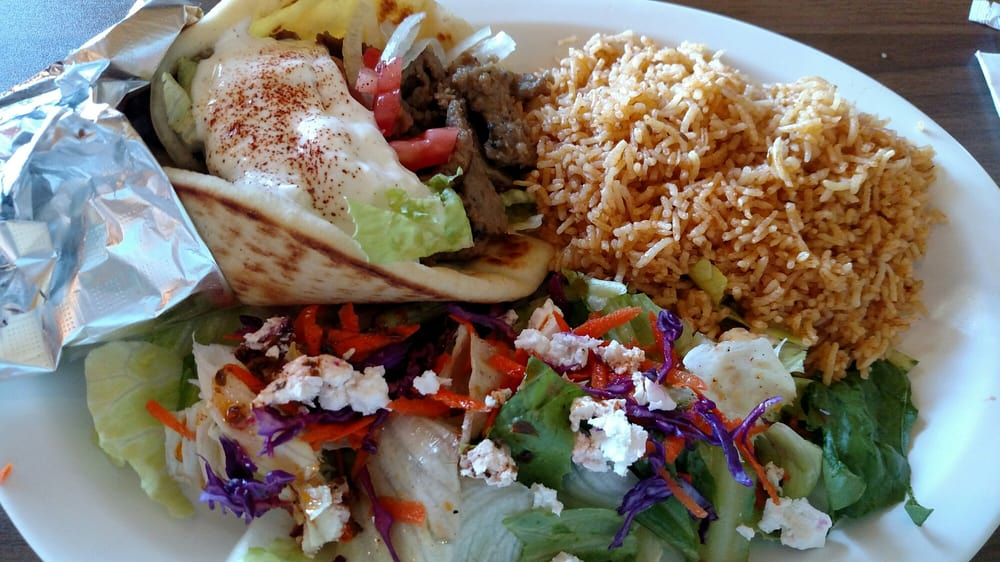 The gyro plate too much food but so yummy yelp for Aiyara thai cuisine