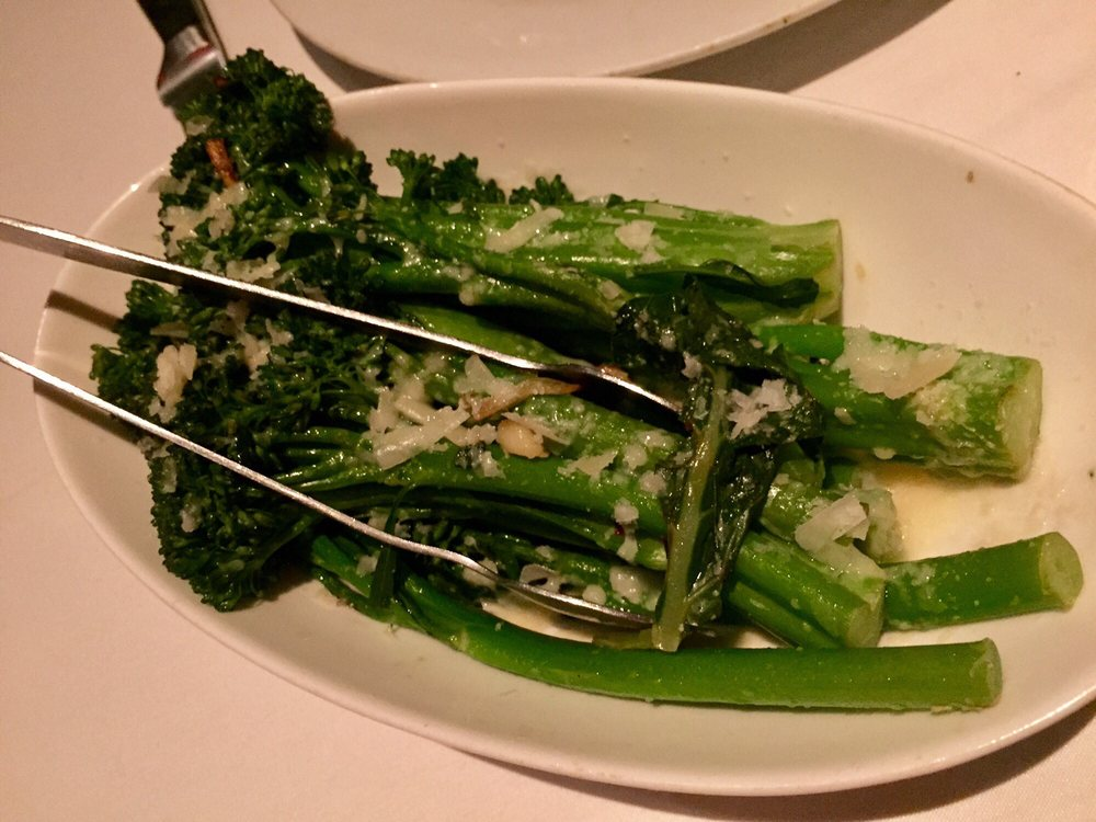 Parmesan garlic asparagus too salty was a struggle yelp Eddie v s san diego