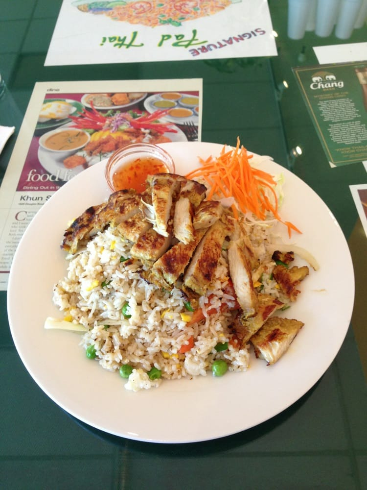 Lunch special bbq chicken over fried rice yelp for 22 thai cuisine yelp