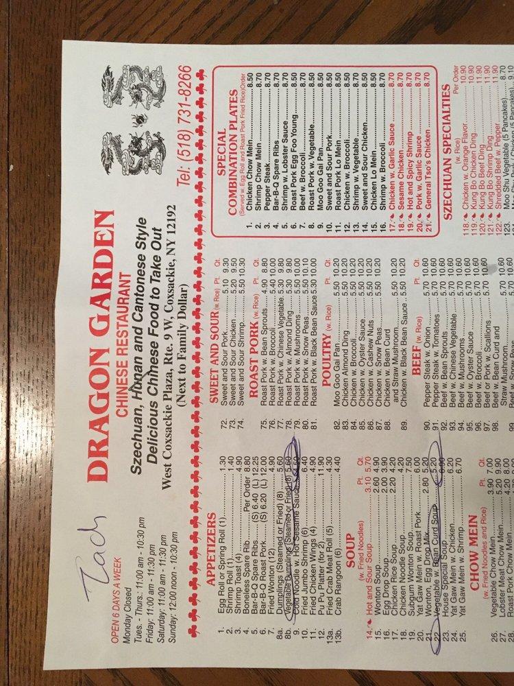 Dragon Chinese Restaurant West Coxsackie Ny