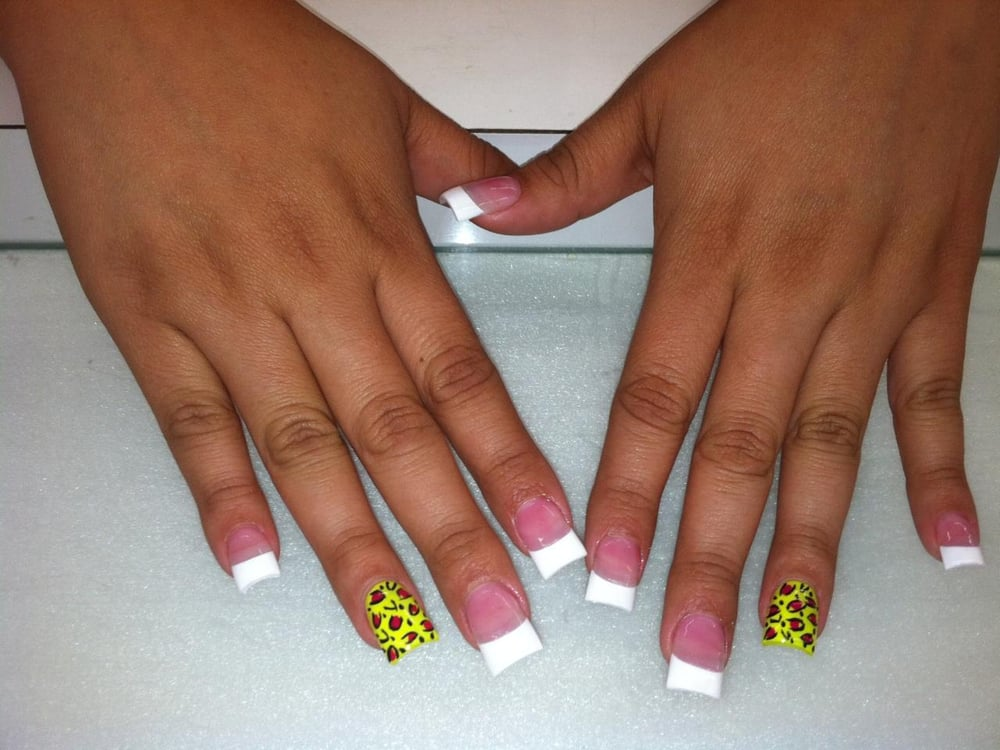 Exelent Green French Tip Nails Ensign - Nail Paint Design Ideas ...