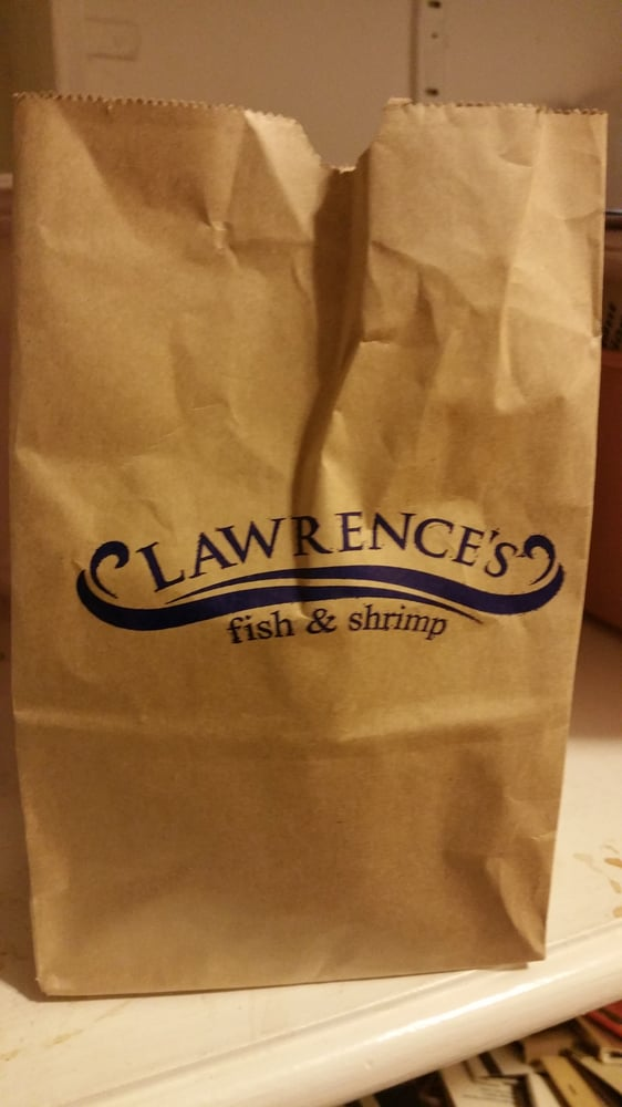 The cute little bags the shrimp come in yelp for Lawrence s fish and shrimp