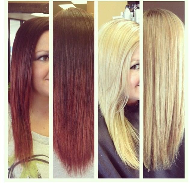 Red To Blonde Hair Brushing