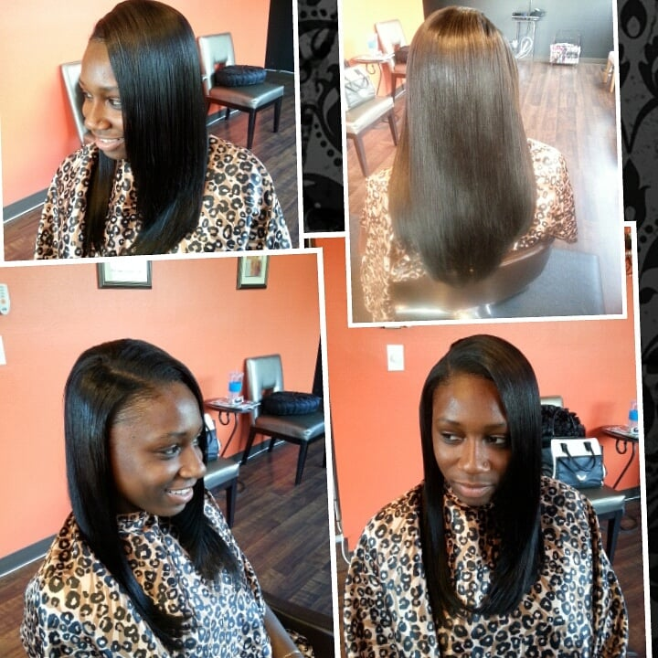 Groovy Full Sew In Weave With 14Inch Straight Hair Yelp Hairstyles For Women Draintrainus