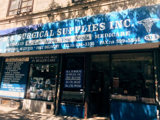 M A  Surgical Supplies Inc  314 Roebling St Brooklyn, NY