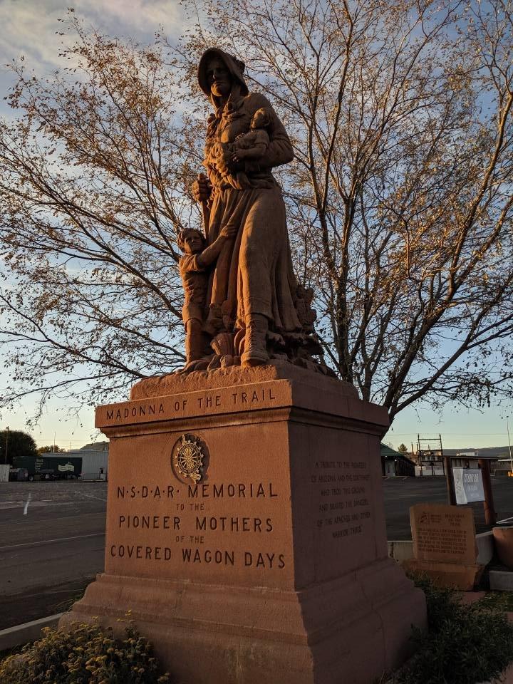 Madonna Of The Trail: 180 E Main St, Springerville, AZ