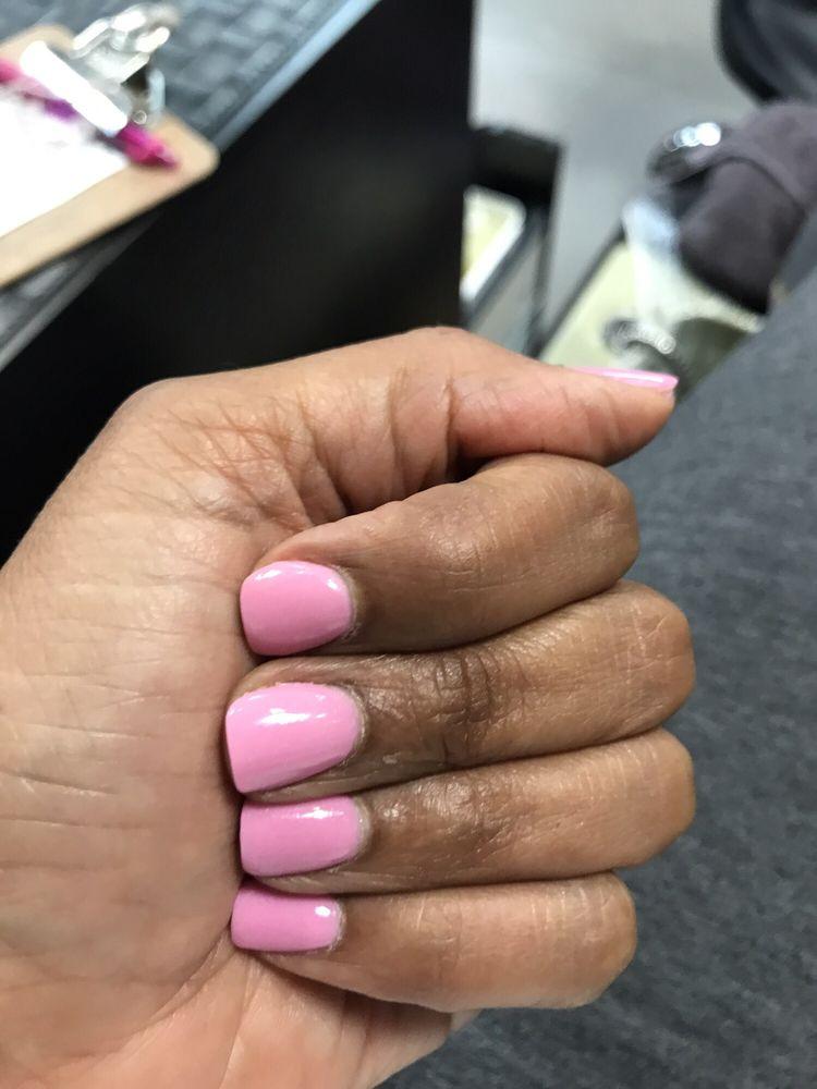 South Beach color nexgen/dip manicure. - Yelp