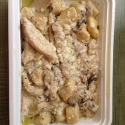 Crust - Cleveland, OH, United States. Mushroom gnocchi with chicken! Yum!