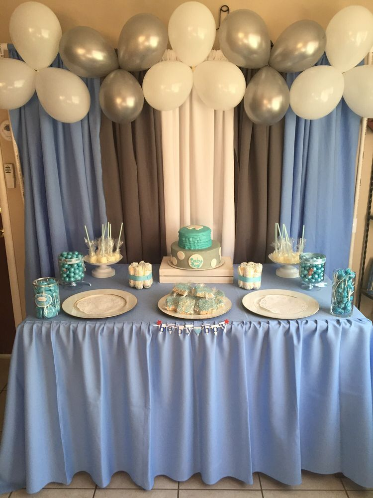 It S A Boy Baby Shower Dessert Table Yelp