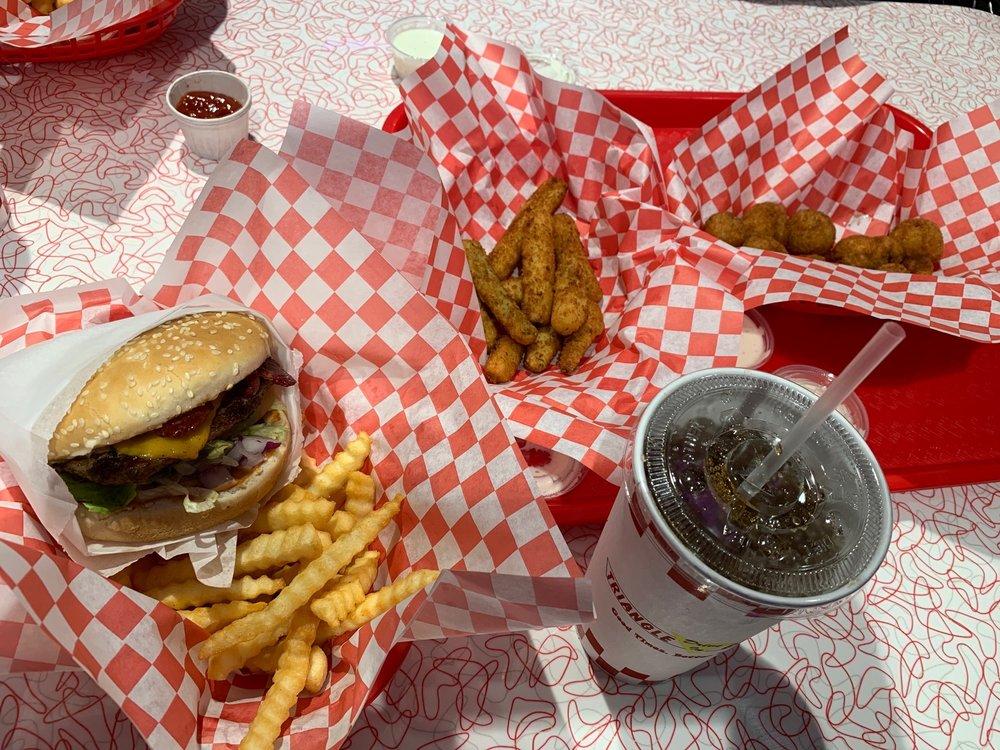 Triangle Burgers: 1330 E Tulare Ave, Tulare, CA