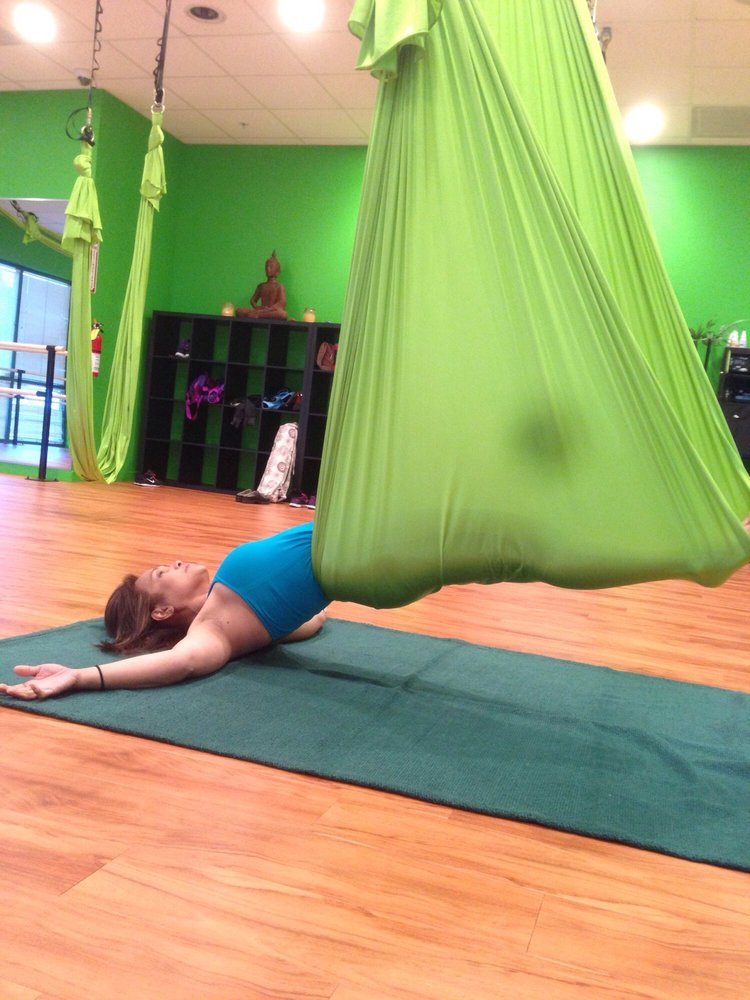 Aerial Yoga Class Vampire Pose So Much Fun And Great Work