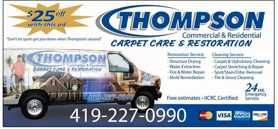 Thompson Carpet Care & Restoration: 819 N Elizabeth St, Lima, OH