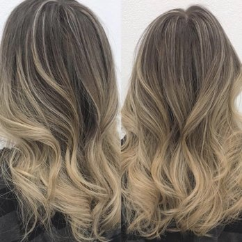 Balayage, ombré, highlights, blonde hair, ombré balayage