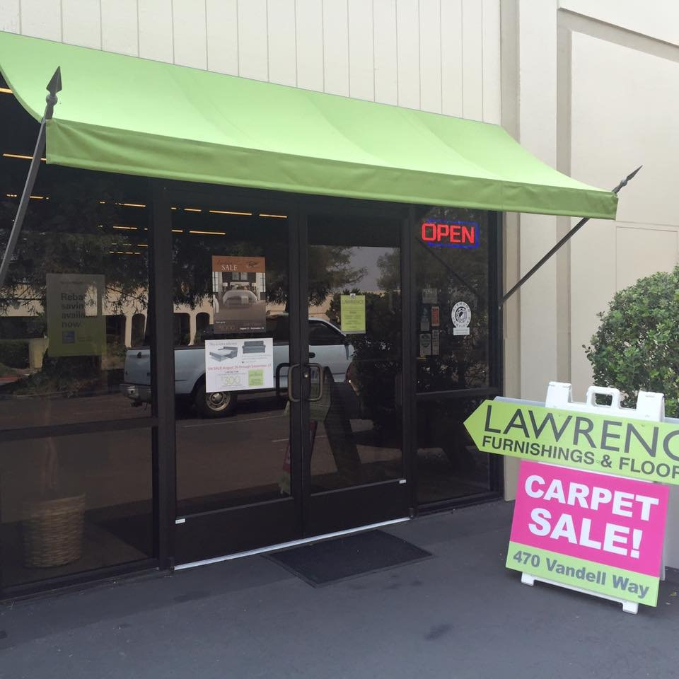 Photo of Acme Sunshades Enterprise - San Leandro CA United States. Spear Point & Spear Point Awning custom made for Lawrence Flooring u0026 Interiors ...