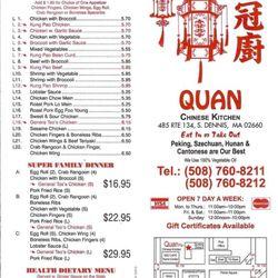 photo of quan chinese kitchen south dennis ma united states - Quans Kitchen Menu