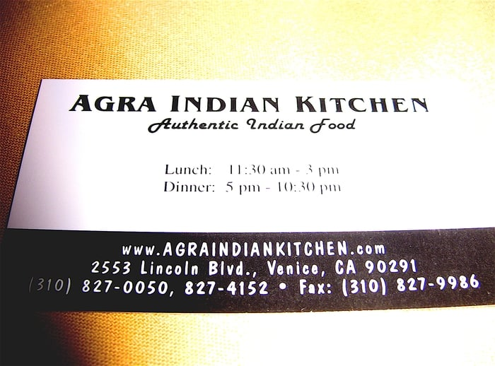 Indian Food Delivery Venice Ca