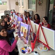 Paint Party Photo Of And Wine Gilbert Az United States