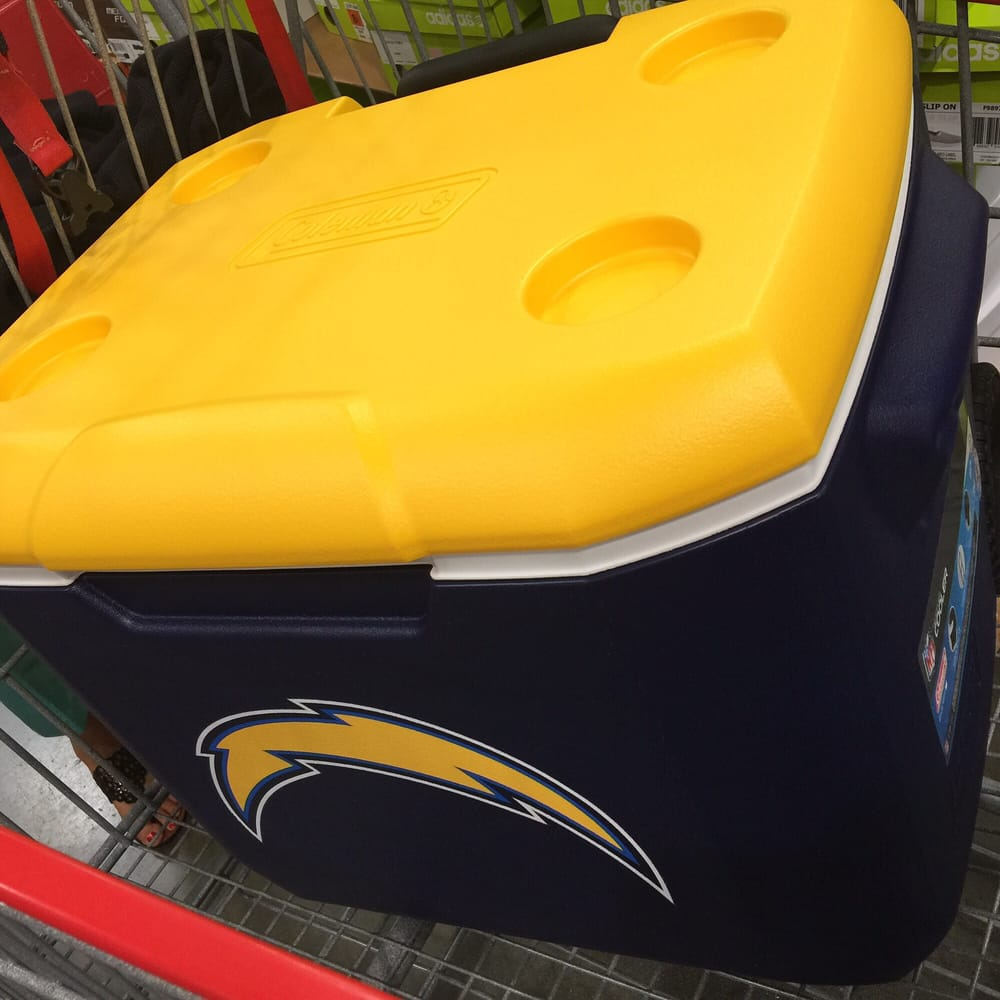 Photo of Costco Wholesale - Temecula CA United States. CHARGER FANS-- & CHARGER FANS--COLEMAN ICE CHEST AND OTHER THINGS LIKE CANOPY AND ...