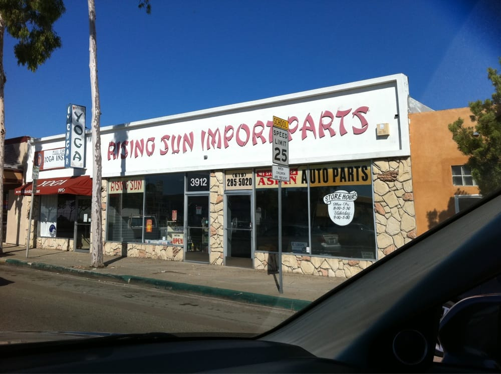 Rising sun import parts closed auto parts supplies for Import motors san diego