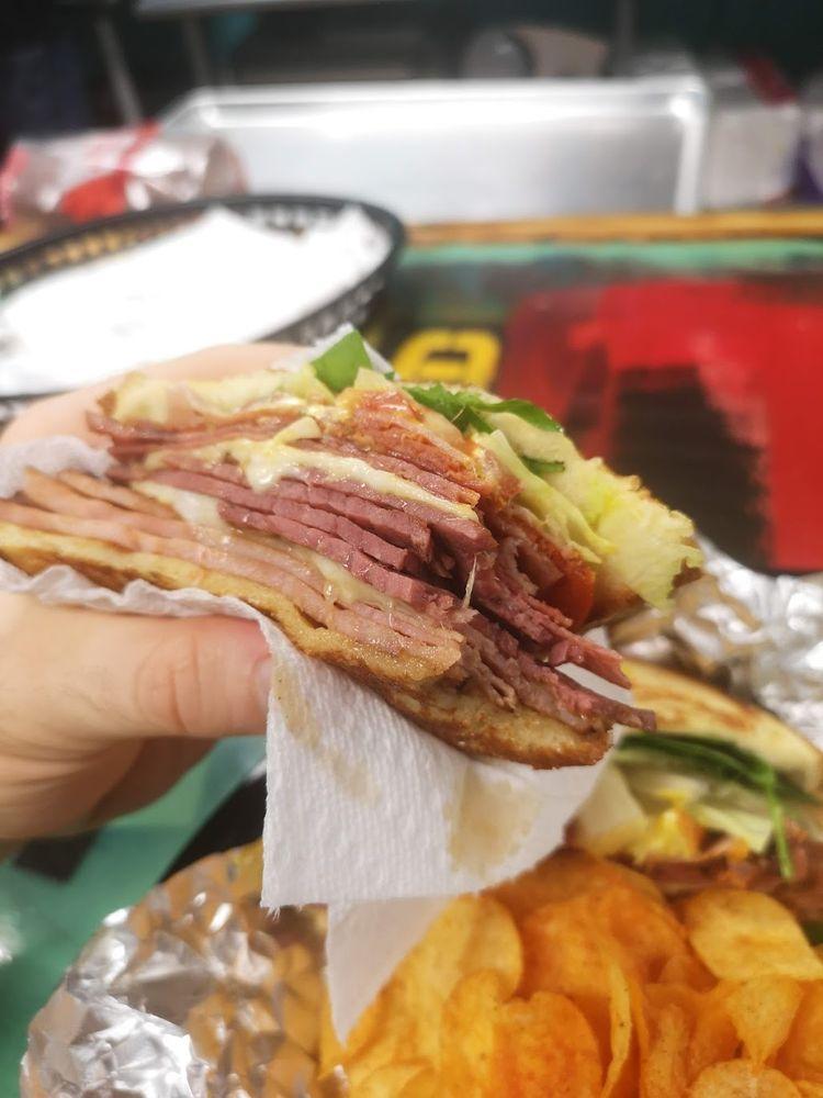 Food from Fatboiz a Real Sandwich Shop