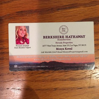Berkshire Hathaway Home Services Real Estate Agents 10777 W