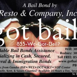 P O Of A Bail Bonds By Resto And Company Inc Wilmington De United