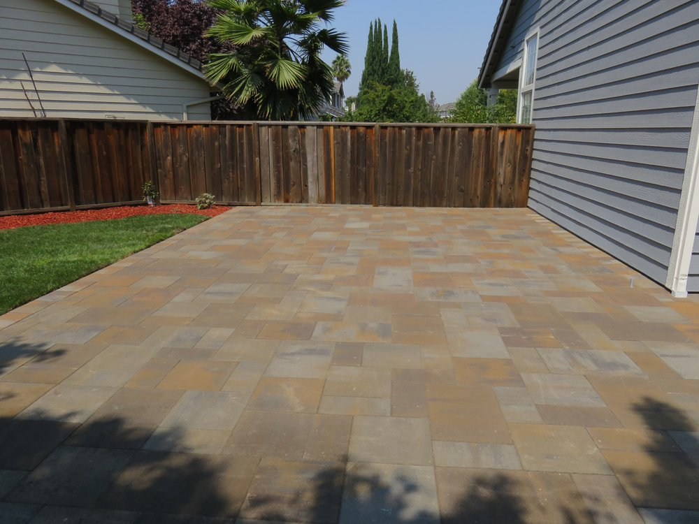 Pavers are Belgard Catalina LaFitt  Colors are a mix of