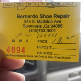 Bernardo Shoe Repair Sunnyvale