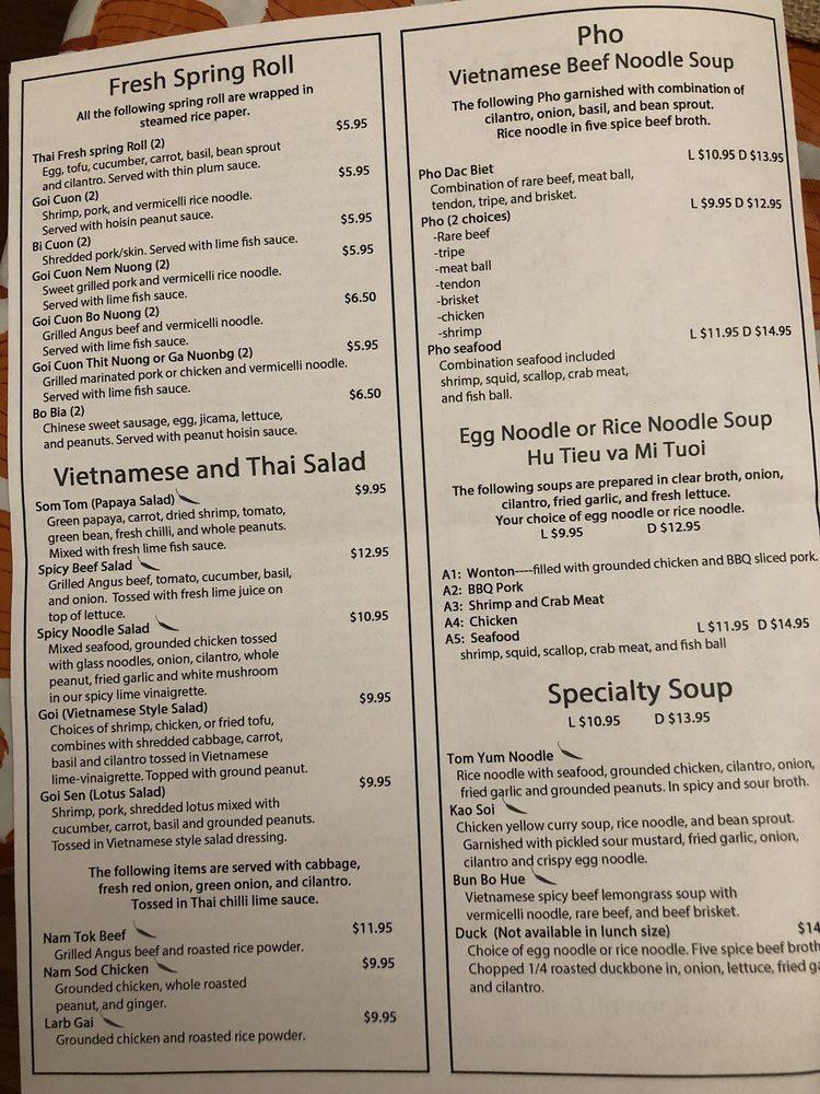 Online Menu Of Viet Thai Saint Peters Restaurant St Peters Missouri 63376 Zmenu