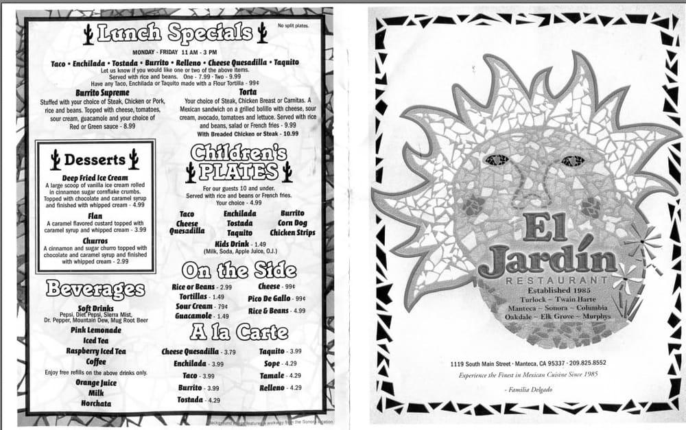 El jardin mexican restaurant 144 photos 281 reviews for Cafe jardin menu