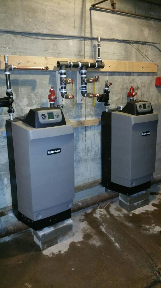 Two Weil McLain Ultra Efficiency Boilers installed side by side. - Yelp