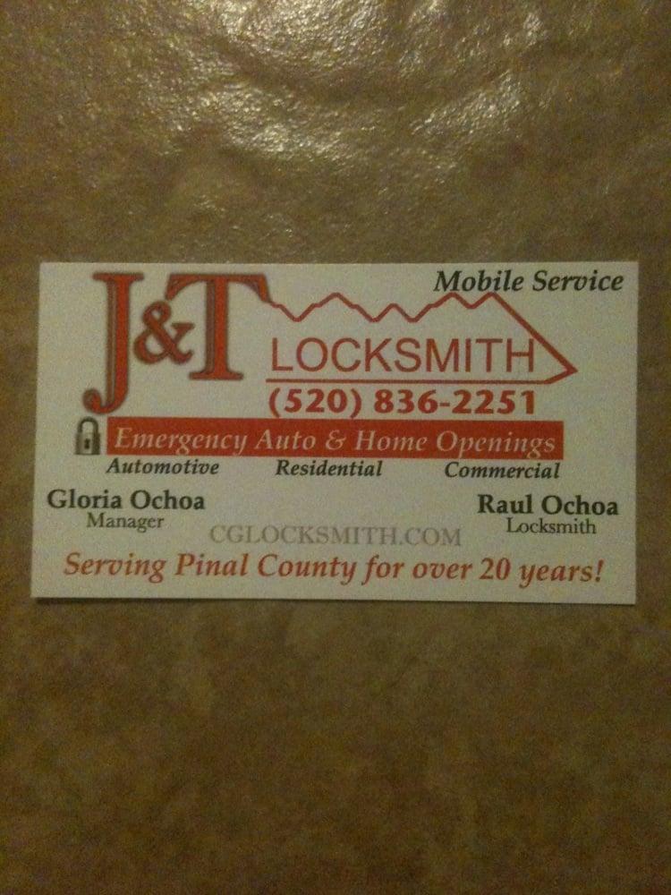 J & T Locksmith: 620 S Trekell Rd, Casa Grande, AZ