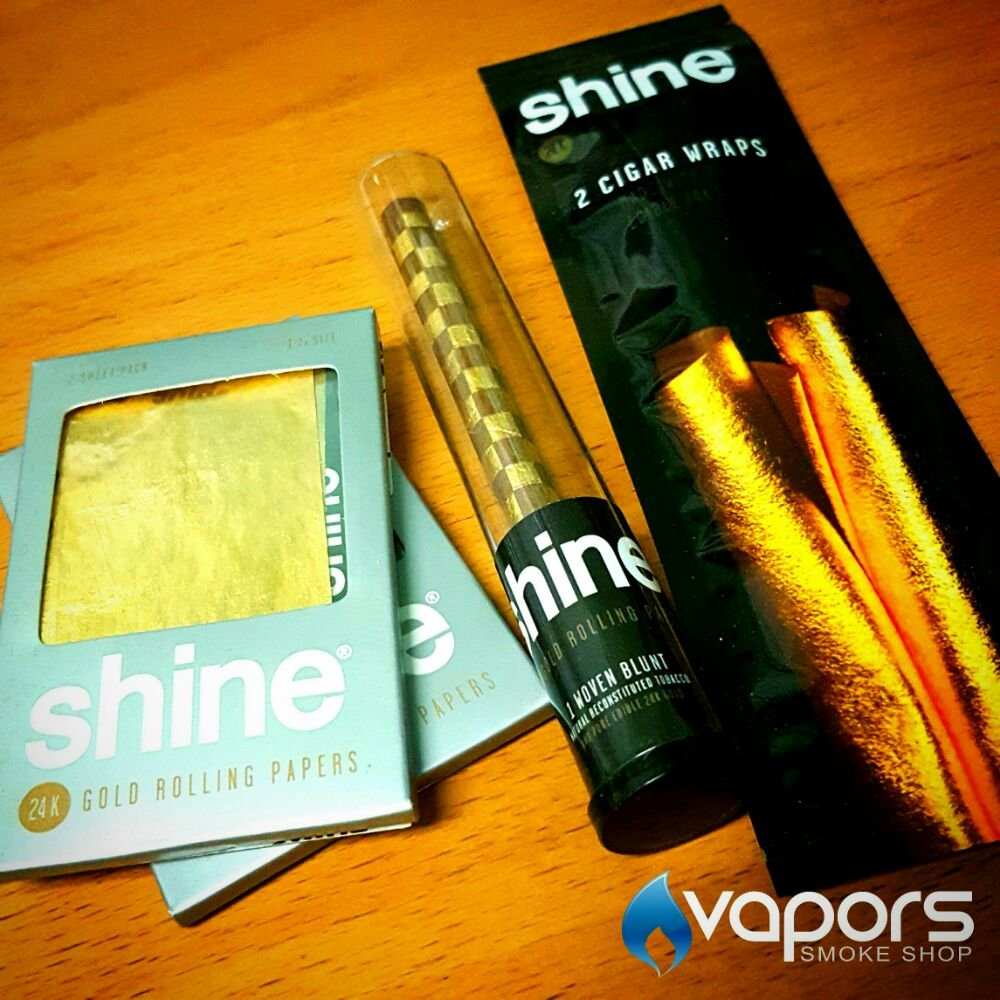 Treat yourself or others to gold rolling papers, cones and wraps by