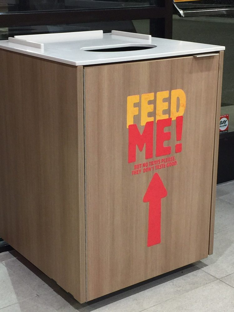 Cool Trash Cans Feed Me But No Trays Please They Don T